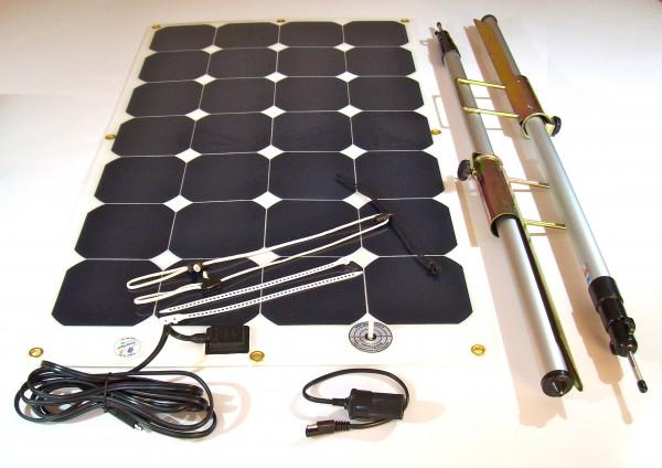 CampSet, (=CoolSet 1.1), Solarmodul mit Aufhängung, für Kühlbox und Vieles mehr