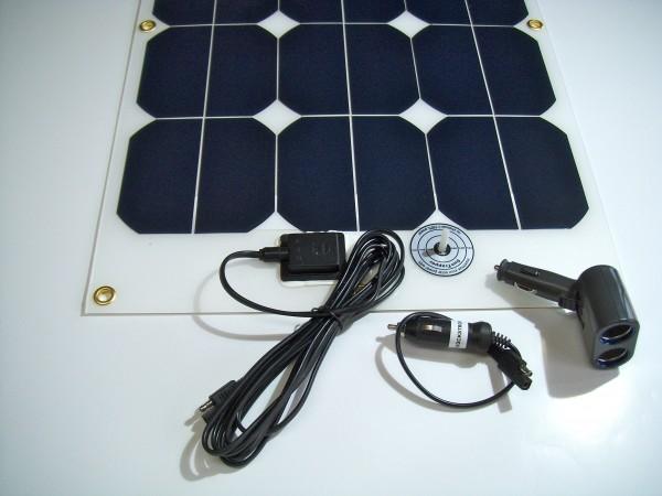 ChargeCar 1.1, Solare Stromversorgung 40Watt für alle KFZ
