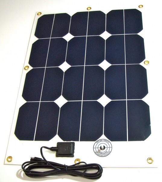 Hochleistungs- Solarmodul SFe 40-13, 40Watt/13V, leicht und flexibel