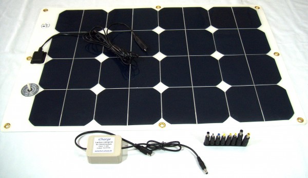 LaptopSet 2.0, Solar-Ladegerät für Laptops mit 14,5V oder 16,5V