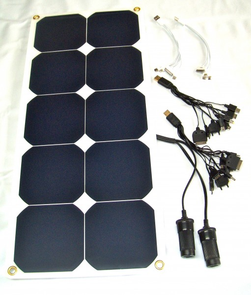 ChargeMan, Solar- Ladegerät 30W für smartphones, tablets, Kameras, GPS