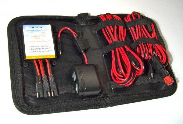 ChargeSet, Batterie-Laderegler mit Anschluss-Kabel-Set