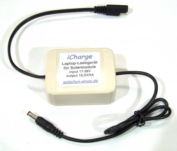 iCharge, Ladegerät für Laptop und MacBook mit 14,5 oder 16,5 Volt